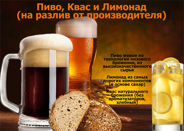 Пиво, Квас и Лимонад на разлив