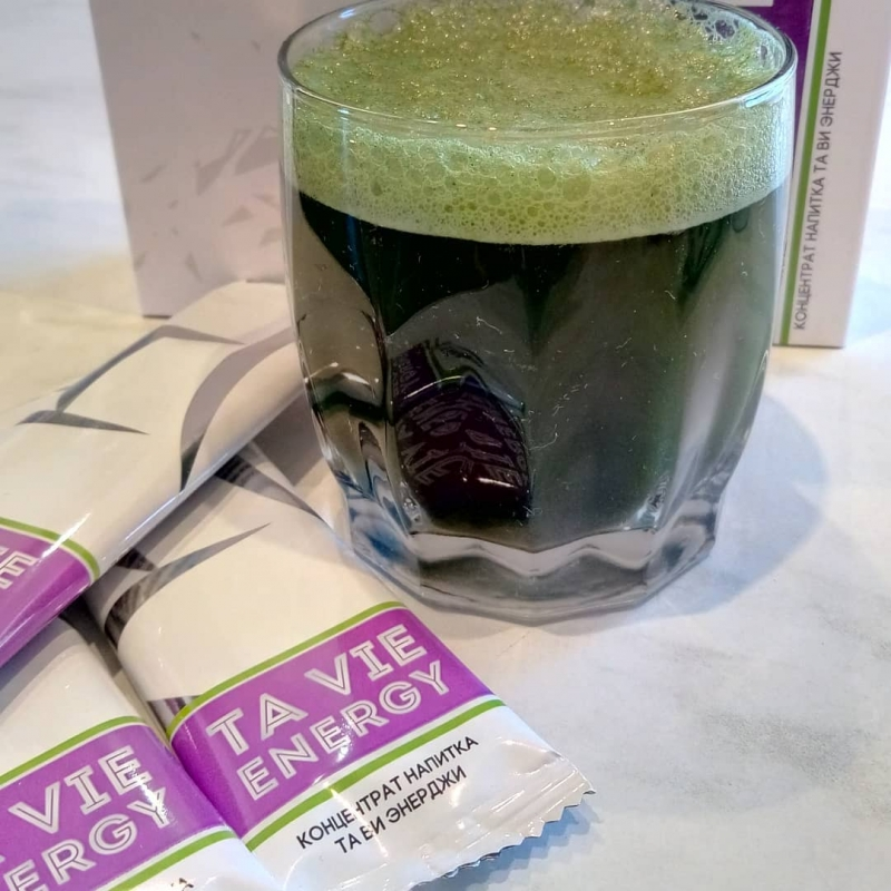 Ta Vie Energy - зелный коктейль из злаков и водорослей